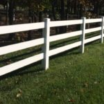 White Three Rail Ranch Rail Fence