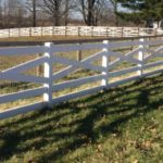 White PVC Crossbuck Fence