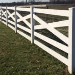 White Crossbuck Ranch Rail