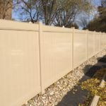 Tan PVC Privacy Fence