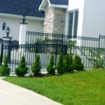 Flattop Black Railing with Circles around Entryway