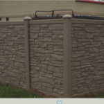 Brown Simtek Eco Stone Dumpster Enclosure