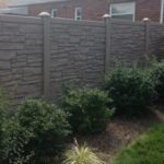 Gray Simtek Eco Stone Privacy Fence