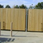 Dog Ear Wood Privacy on a Steel Frame Dumpster Enclosure