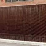 Chainlink with Brown Privacy Slats