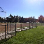 Chainlink Baseball Backstop and Dugout