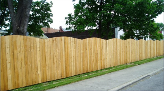 Solid Board Roll Top Privacy Fence