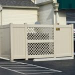 Tan PVC Enclosure with Lattice